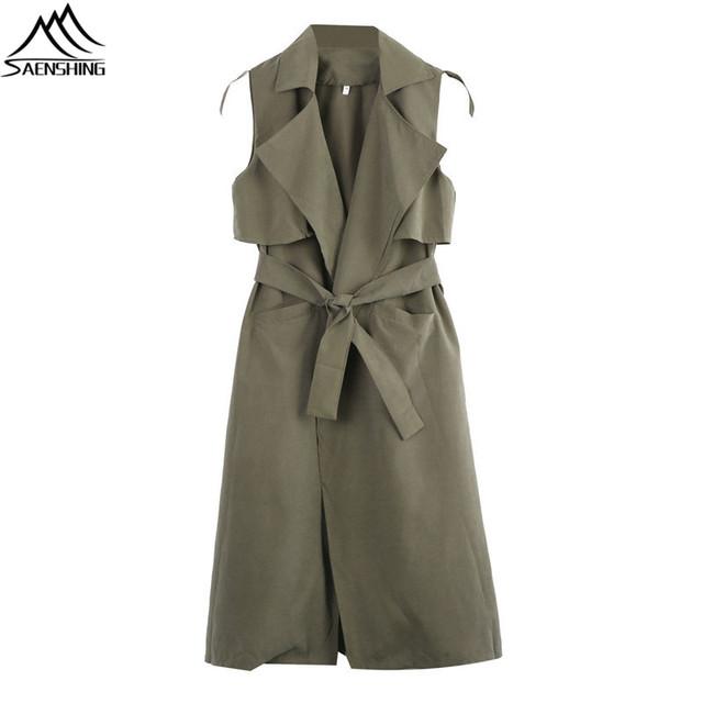 2016 Fashion Women Coat Sleeveless Waterfall Cape Long Cardigan Jacket Coat Windbreak Summer Solid Long Coats For Women High-Q