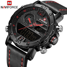 20d2762c086 Causal NAVIFORCE 9134 Mens Relógios Top Marca de Luxo Relógio de Quartzo de  Couro À Prova D  Água Relógio de Pulso Militar assis.