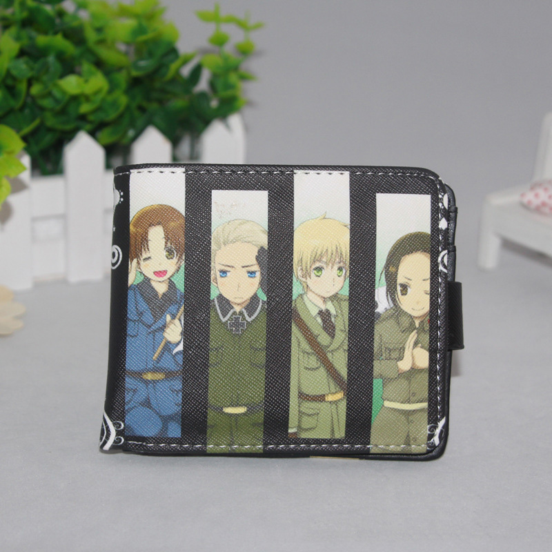 Japanese Anime Axis Powers Hetalia PU Short Cosplay Bifold Wallet Men Women Card Holder Purse Carteras Mujer цены онлайн