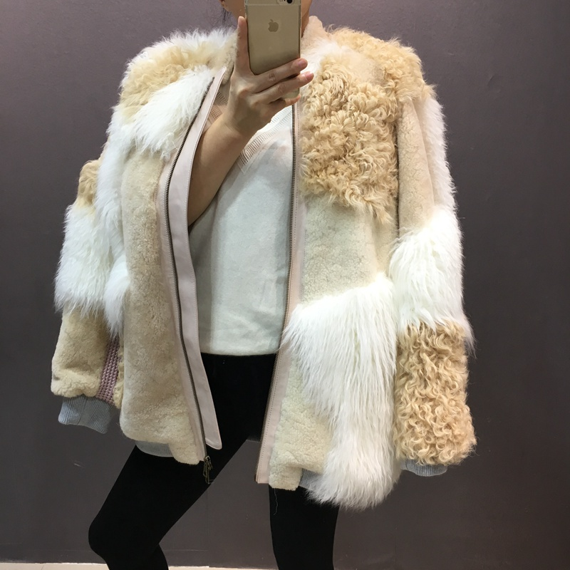 natural sheep fur coat real lamb fur (6)