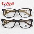2016 Mais popular Imitação de madeira escovado W6805 unisex óculos de acetato frame ótico de alta qualidade