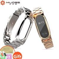 Mijobs Noble Metal Mi Band 2 Strap No Screw Stainless Optional Watch Bracelet For Xiaomi Mi