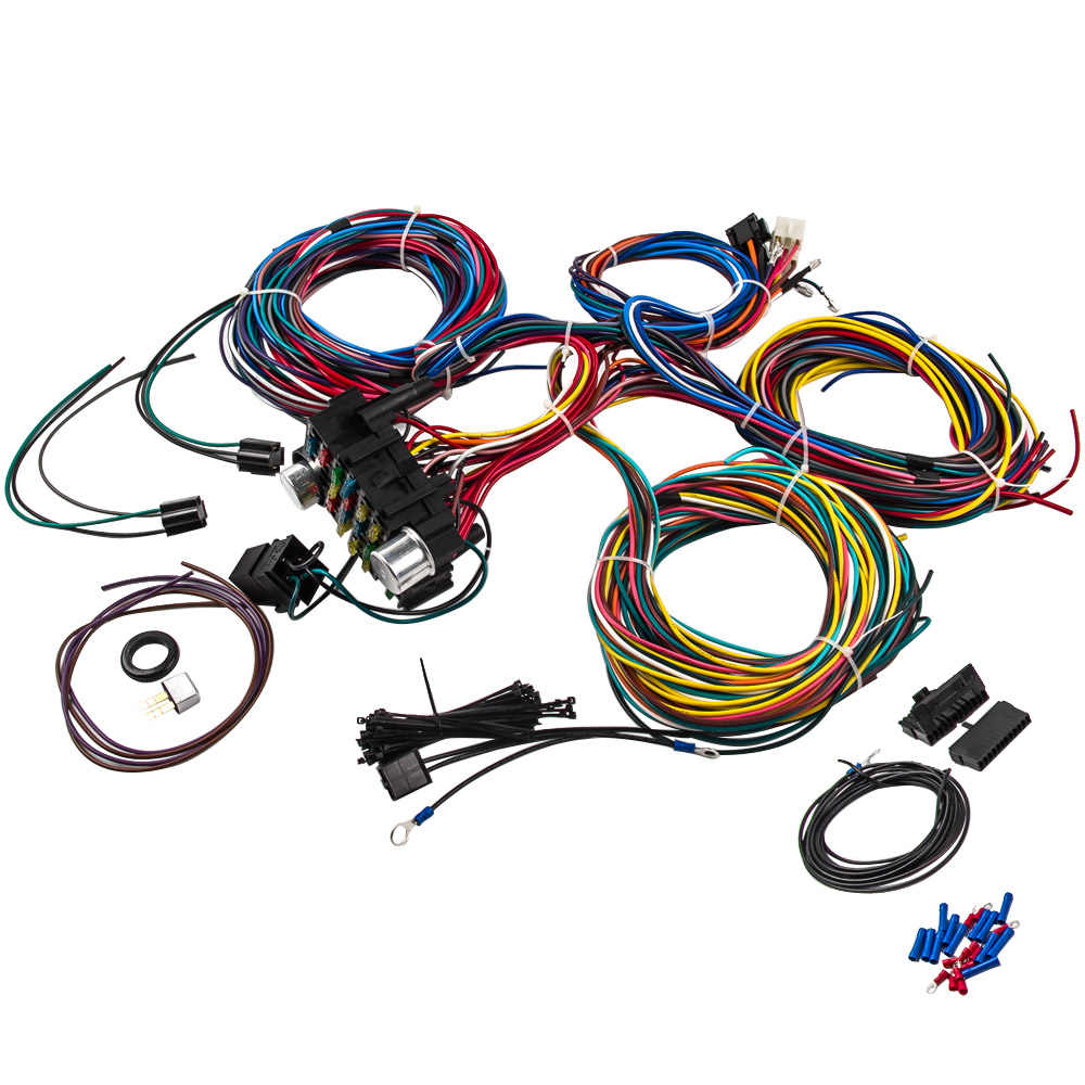 21 circuit wiring harness hot rod universal wire kit for chevy universal ford wiring harness 21 circuit street hot rod universal 1996 Ford Dash Wiring Harness