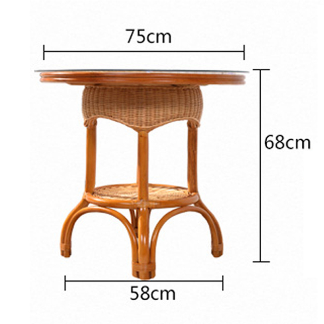 Leewince Furniture Rattan Garden Outdoor Tables Pure hand weaving Outdoor Stack Tables Weather Outdoor Patio Coffee Tables