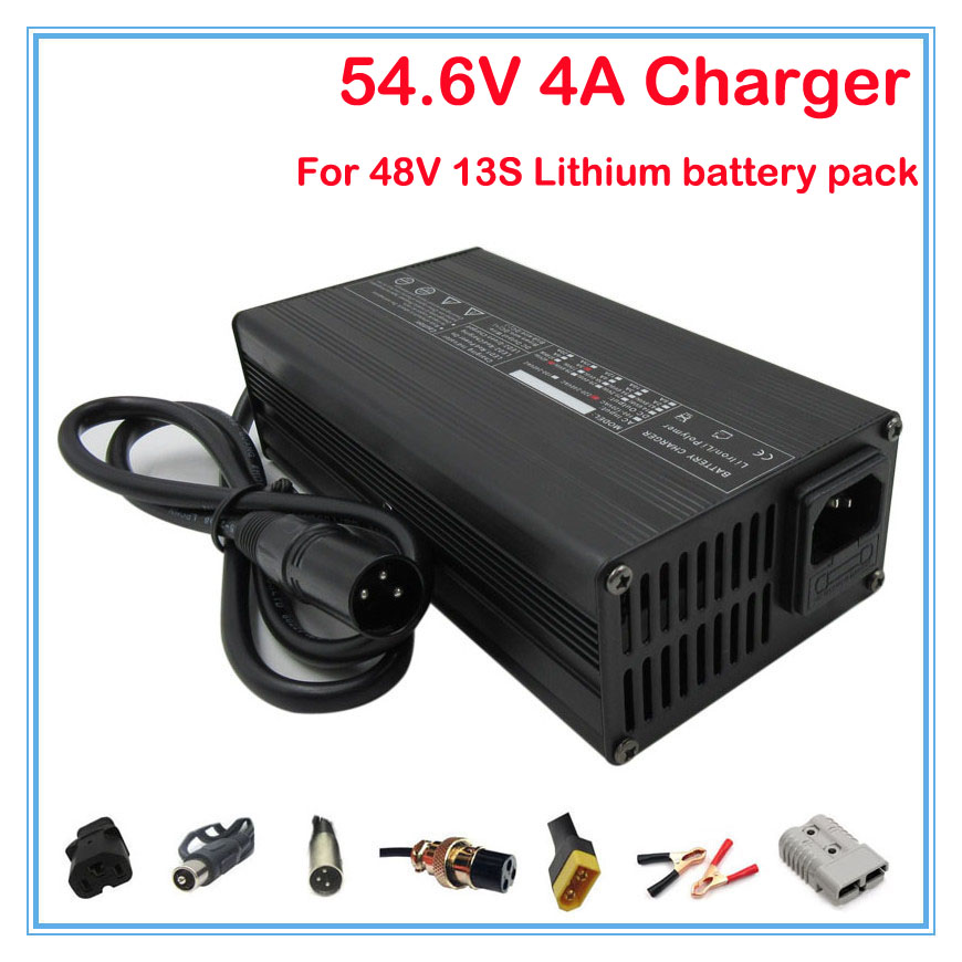 240W 48V 4A Ouput 54.6V 4A charger Used for 48V 13S electric bike E scooter battery 48V 20AH 30AH 40AH Lithium battery Charger