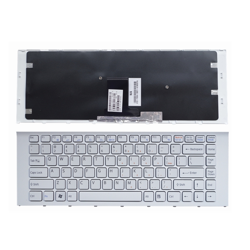 YALUZU New For SONY VAIO PCG-61211 PCG-61211L PCG-61211M PCG-61317L PCG-61317M PCG-61317 Keyboard US English Black White Color