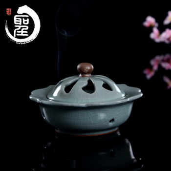 Ge Kiln Longquan celadon ceramic household and sandalwood incense smoke incense vaporizer products Incense appliances
