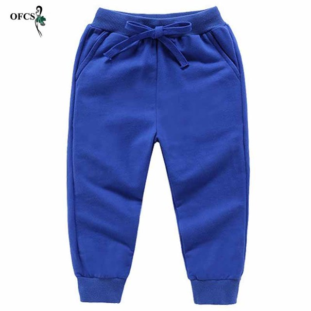 Solid Color Elastic Waist Soft Baby Pants 3