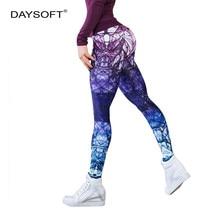 DAYSOFT Casual Printing Leggings Women Fitness Legging Sexy Elastic Pants Female High Waist Trousers Workout Womens Leggins