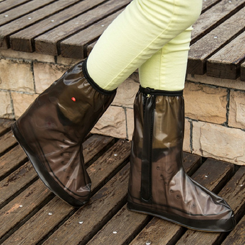 2018 New High-quality Outdoor Thick Water-proof High Tube Shoes Cover Skid Boots Women And Men's Travel Rain Boots Shoes Cover