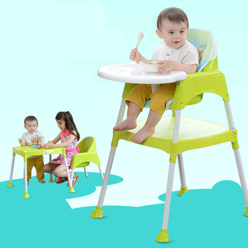 Portable Lovely Baby Chair Multifunctional Baby Dining Chair Folding Combine Style Baby Feeding Chair Soft Baby High Chair C01