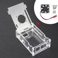 High Quality Orange Pi PC Case Transparent Acrylic Plastic Clear Box Cooling Fan For Orange Pi