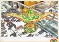 Russian large boutique Aladdin lamp bar KTV decoration lamp European auspicious color tin lamp