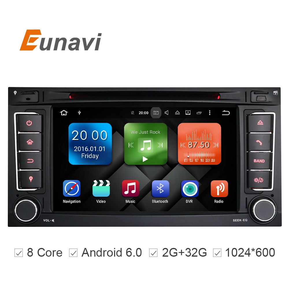2G RAM 32G ROM 7 Inch Android 6 0 Car DVD Player For VW Volkswagen Touareg