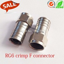 RG6 crimp f type coaxial cable connector Hex Crimp F-Connector for F-Type Crimp-On Coaxial RG59 RG11 adapter