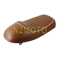 Brown Motorcycles Vintage Seat Cushion Hump Style Universal Refit for Honda Cafe Racer Soft Seat