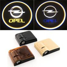 Proyector de luz con logotipo de bienvenida para puerta de Opel, proyector de sombra fantasma, 2 uds.