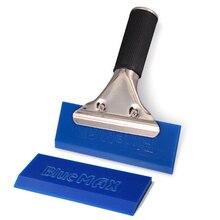 EHDIS mango de Metal azul para enjugador máximo + 1 hoja de goma de repuesto, herramientas de revestimiento para coche, película de vinilo que cambia de Color, herramienta de instalación, raspador de hielo para coche