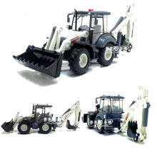 1:50 Two-way Forklift Bulldozer Back Hoe Loader Shovel Alloy Excavator Diecast Model For Baby Birthday Gifts Toys(China)