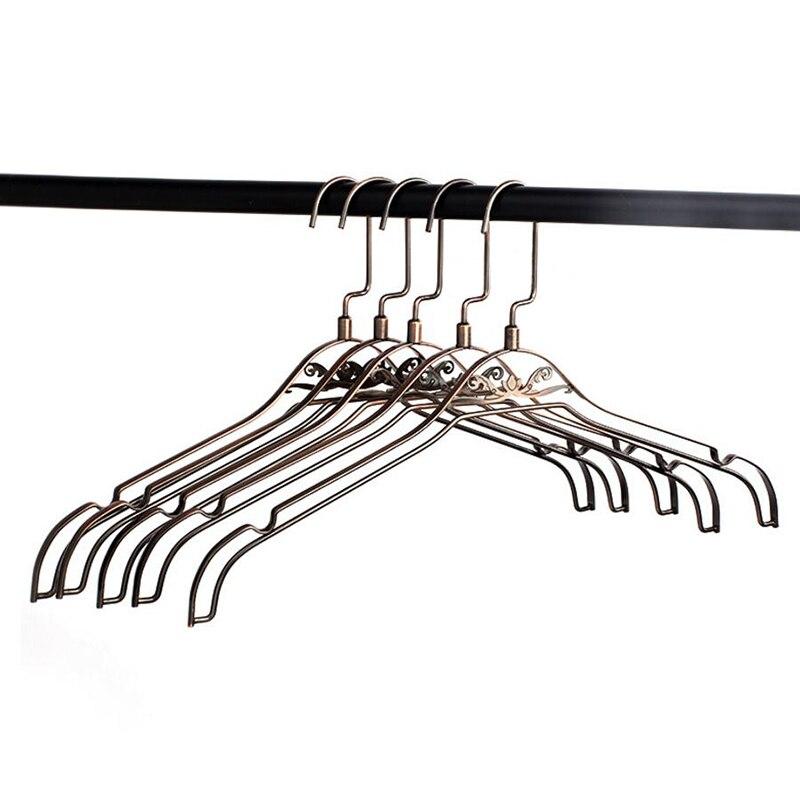 10 Pcs/Lot Antique Bronze Metal Clothes Coats Hanger, Unique Design Creative Hanger for Clothes Shop
