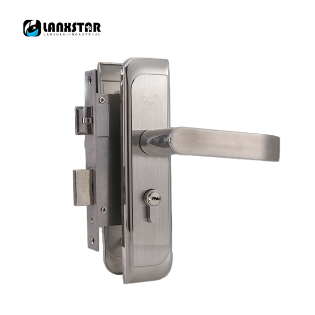 Bedroom Lock. Europe Style Genuine 304 Stainless Steel Interior Door Handle Lock Bedroom  50 Size Anti Insert