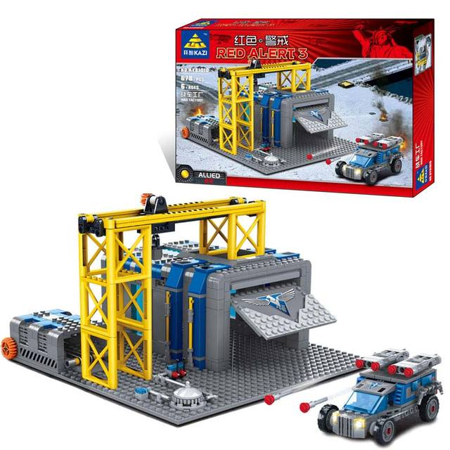 Building Blocks Toys Red Alert Allied War Factory Kazi Brand High Quality Plastic Bricks Compatible With For Children