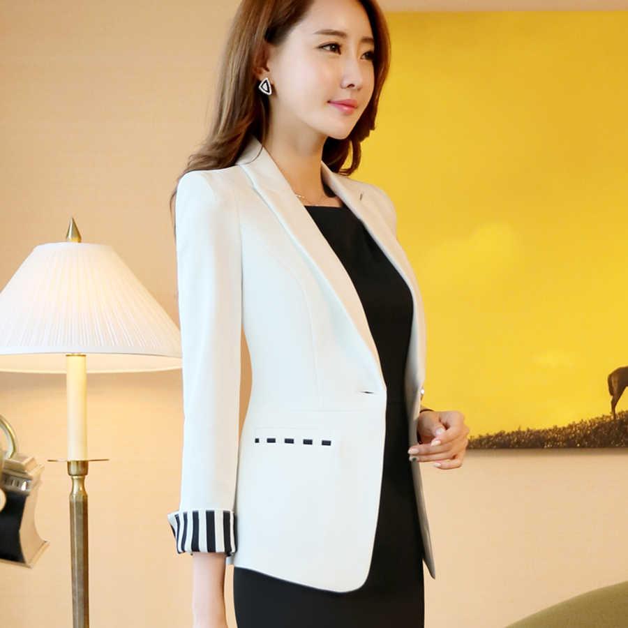 0257e78a1ba ... Elegant Ladies Blazers Designs Office Blue Korean Slim Plus Size Women  Blazer Cape Woman Coat Formal ...