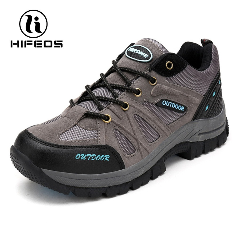 HIFEOS Hiking Boots Outdoor Shoes Non-slip Damping Walking Shoes Trekking Shoes Mountaineers Climbing Waterproof Camping Shoes цена и фото