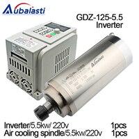 5.5kw шпиндель водяного охлаждения GDZ125 5.5 ER25 + инвертор AT1 5.5KW вход один 220 В выход 3 фазы ac220v