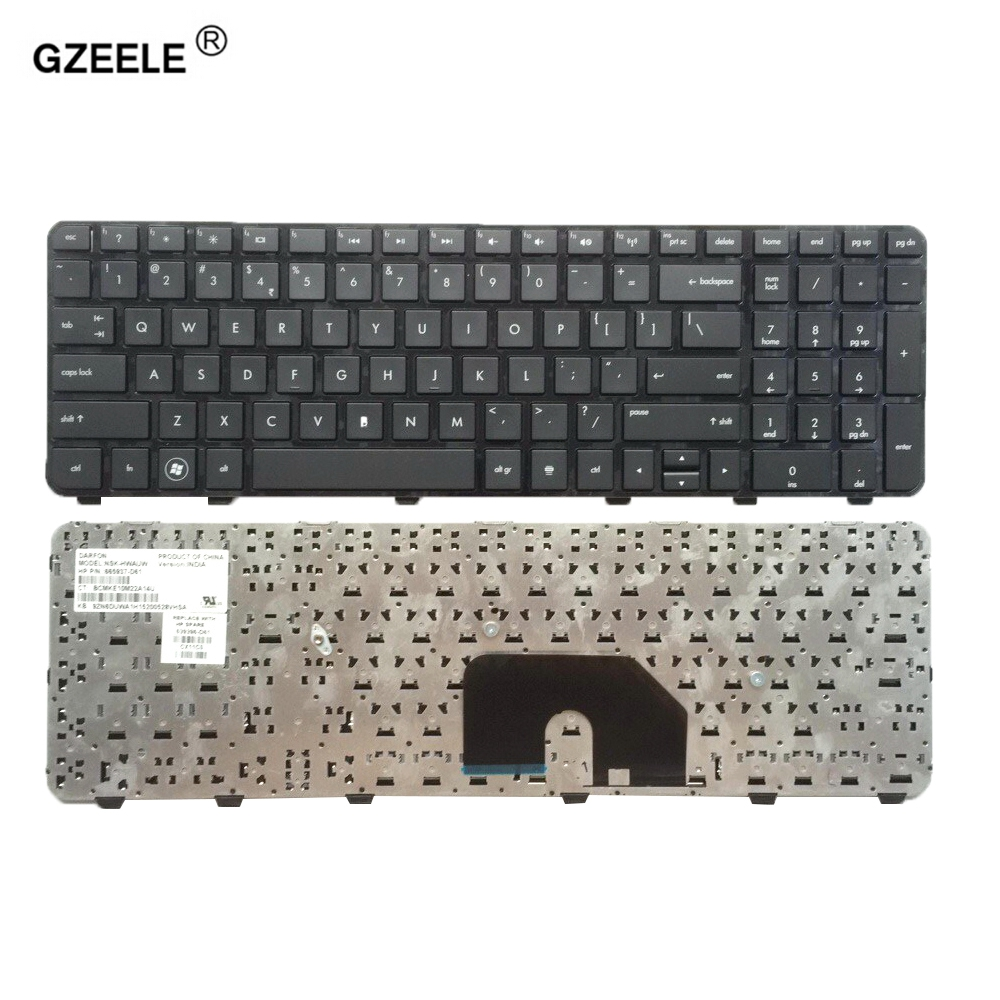 GZEELE For HP Pavilion DV6-6000 DV6-6100 DV6-6200 DV6-6b00 Dv6-6c00 English Keyboard US Black 640436-001 634139-001 665937-001