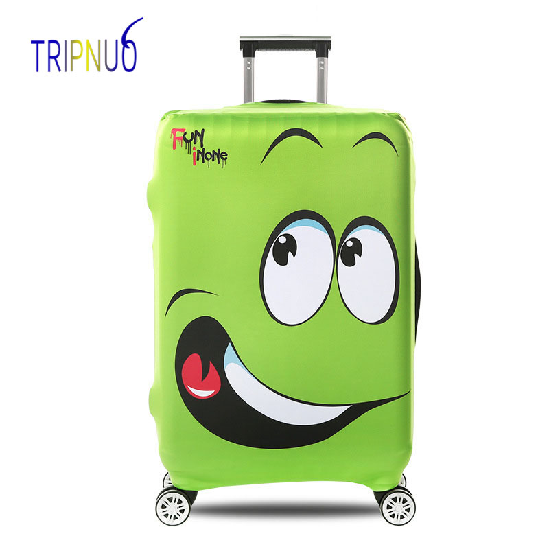 TRIPNUO Cartoon Eye Luggage Protective Cover Elastic Suitcase Travel Case Trolley Dust Rain Bags Accessories Supplies