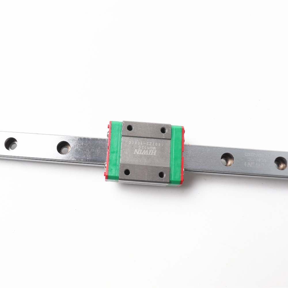 1pcs Geniune Hiwin Linear Rail 12mm Linear Guide Mgn12  400mm With  Mgn12h For DIY BLV 3D printer