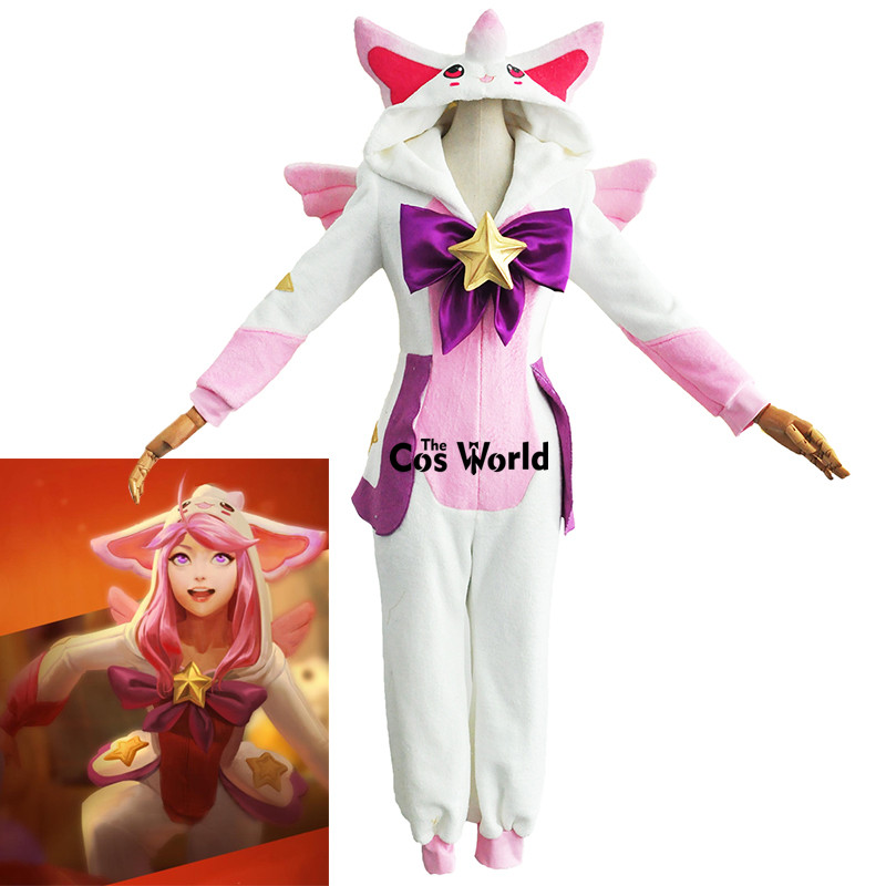 LOL Luxanna Crownguard the Lady of Luminosity Sleepwear Homewear Hooded Pajama Guardian Outfit Cosplay Costumes