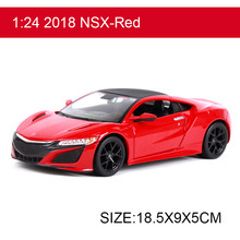 Maisto 2018 NSX 1:24 Alloy Model Metal Racing Vehicle Play Collectible Models Sport Cars toys For Gift