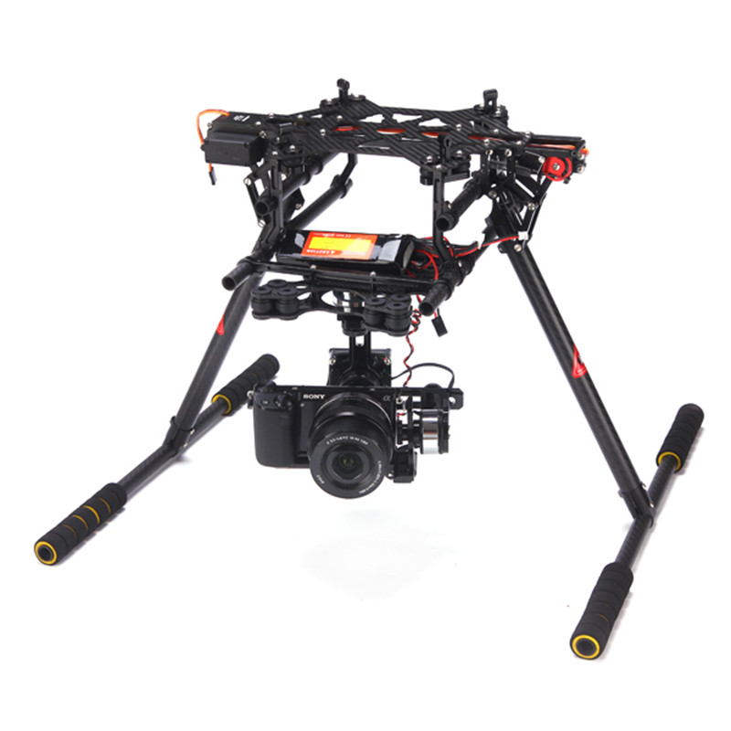 aliexpresscom buy skyhawkrc f900 rc carbon fiber octocopter frame kit with retractable skid fpv drone camera aerial photography multicopter model from