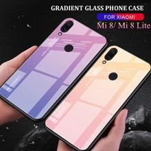 For Xiaomi Mi8 SE mi8se case Gradient Tempered Glass Cover Shockproof Protective Fundas for Mi8SE Mi 8