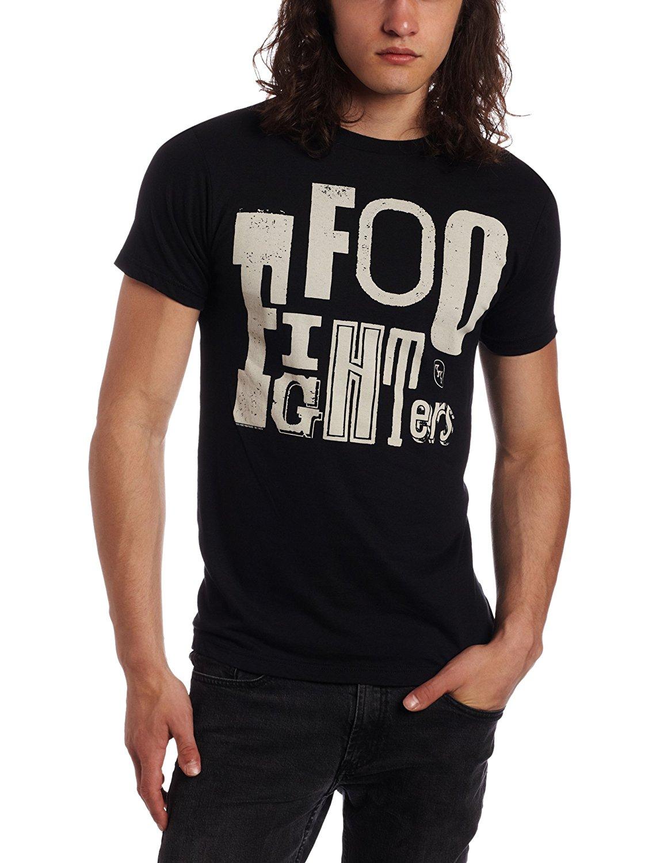 FEA Merchandising Mens Foo Fighters Random Letters Logo Slim Fit T-Shirt