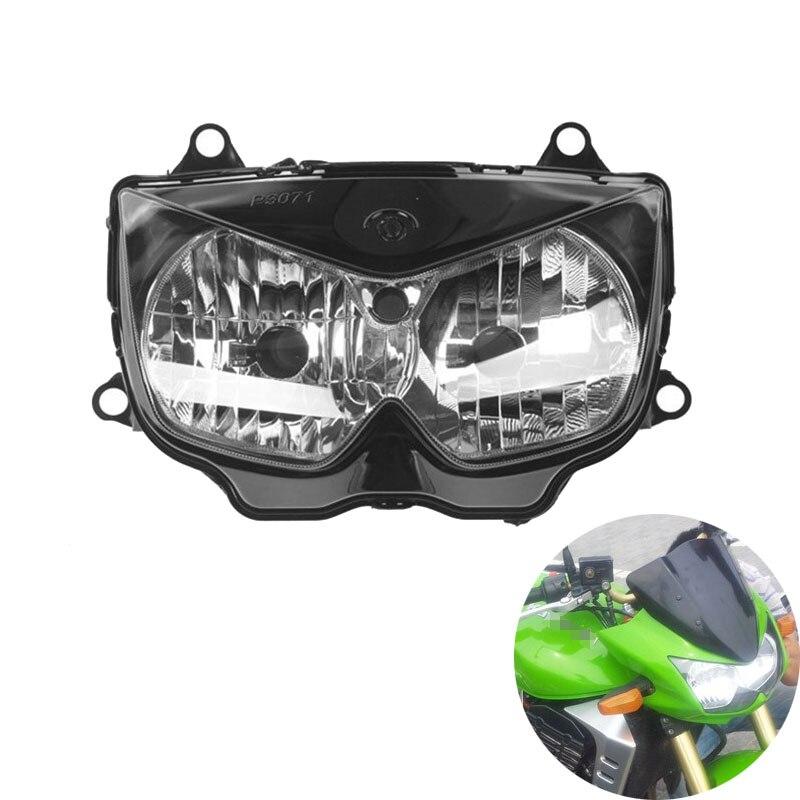 Pour 03-06 Kawasaki Z1000 2003 2004 2005 2006 clair lentille moto moto phare phare phare lampe Kit d'assemblage de phare