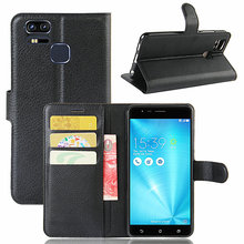 for Asus Zenfone 3 Zoom ZE553KL Case, Flip Leather Wallet Cover Card Slots Stand Cases S  Cell Phone Shell Bag
