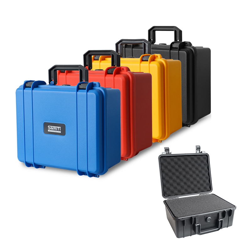 Protective Safety Instrument Tool Box Plastic Storage Toolbox Equipment Suitcase Impact Resistant Shockproof With Sponge