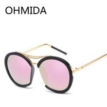 04ed4457790 OHMIDA Vintage Mirrored Round Sunglasses Women Men Brand Designer Best Sun  Glasses For Woman Shades Original Women s Sunglasses