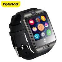Envío gratis Nuevo Q18 Pasómetro reloj Inteligente con Pantalla Táctil de la cámara TF tarjeta Bluetooth smartwatch para Android IOS Teléfono T30