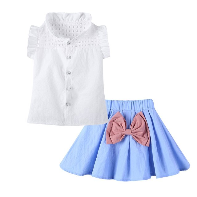OUTAD 2018 Summer Baby Girls Clothing Sets Style 2Pcs