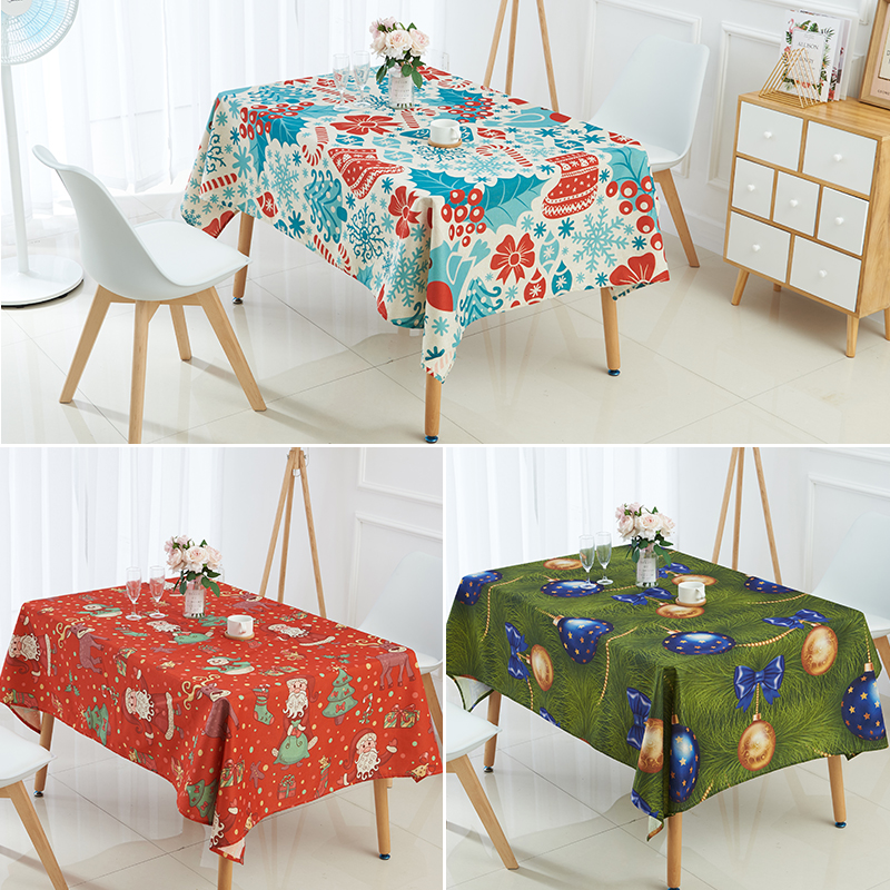 Christmas Tablecloths.Us 4 8 40 Off Christmas Tablecloth Animal Elk Bells Snowman Tree Printed Table Cloth Exotic Restaurant Pastoral Style Decor Table Cover In