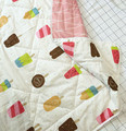 120*150CM Nordic Style Cotton  Ice Cream Cartoon Pattern Baby Quilt  Double-sided Design  Bamboo Fiber Air-conditioned Quilt