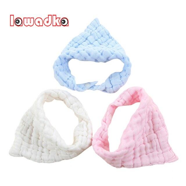 Lawadka 3PCS/Lot Cotton Gauze Baby Bib Infant Saliva Towels Baby Waterproof Bibs Newborn Wear Cartoon Accessories