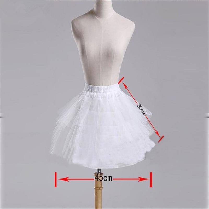 Top Quality Stock White Black Ballet Petticoat Tulle Ruffle Short Crinoline Bridal Petticoats Lady Girls Child Underskirt jupon 5