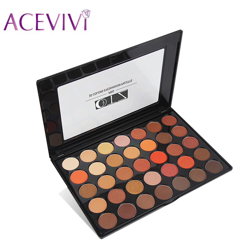 ACEVIVI Makeup Palette 35 Colors Eyeshadow Matte Shimmer Glitters Eye Shadow Palette Makeup Cosmetics Beauty Make Up Set Tools 35 color plum eyeshadow palette professional matte shimmer eye shadow cosmetics make up for eyes