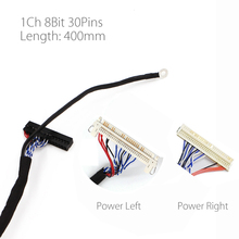 400mm LVDS Cable FIX 30P D8 1ch 8 bit 30 pins 30pin single 8 line For 26 47 inch big screen panel 2 models