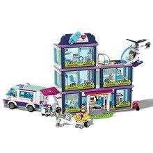 В наличии Новые 932 шт heartlake City парка Love больницы подруг Building Block Совместимость с legoingly друзья 41318 Кирпич игрушка